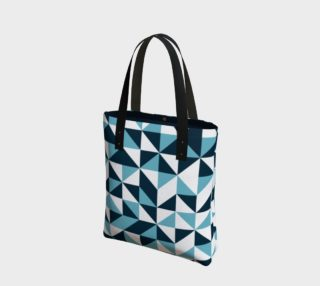 Blue Triangles Tote Bag preview