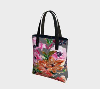 Aperçu de Mixed Floral Bouquet on Gray