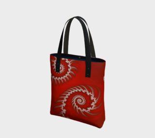 White Striped Swirl Tote Bag preview