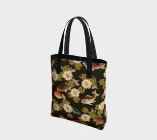 Koi & Lily Pads in Dark Water - Tote Bag preview