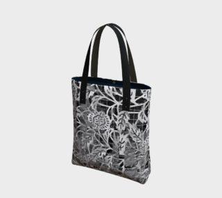 Aperçu de Gray Floral Tote 180121