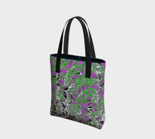 Aperçu de Purple Green Floral Tote 180123