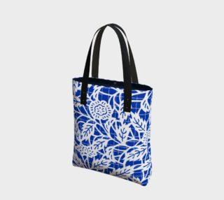 Aperçu de Blue Floral Tote 180124