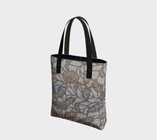 Aperçu de Taupe Gray Floral Tote 180125
