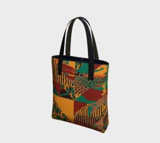 Abstract Safari Print Tote Bag preview