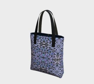 Purple and Blue Kaleidoscope Tote Bag preview