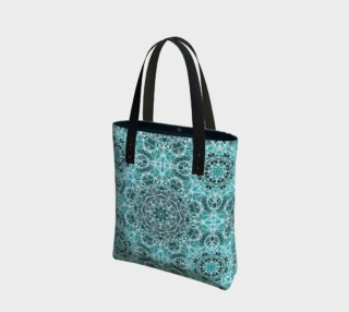 Turquoise & Gray Kaleidoscope Tote Bag preview