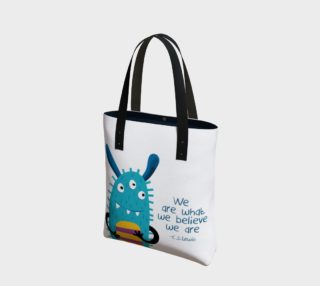 Blue Monster Tote Bag preview