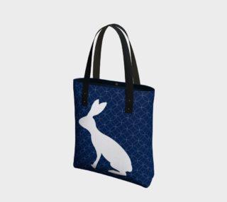 Aperçu de Blue Rabbit Tote Bag 181222