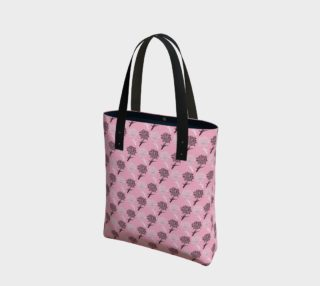 Pink Dandelion Pattern Tote Bag preview