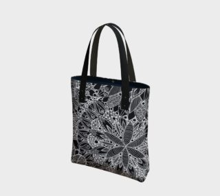 Black and White Mandala Pattern Tote Bag preview
