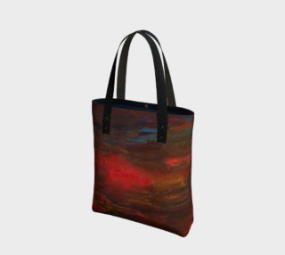 Crimson Ocean Tote Bag preview