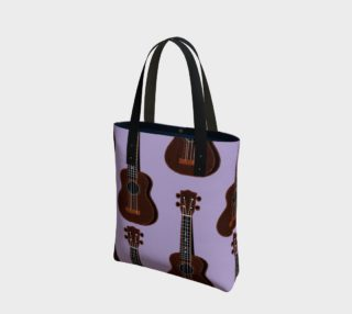 Ukulele Rains Purple Tote Bag preview