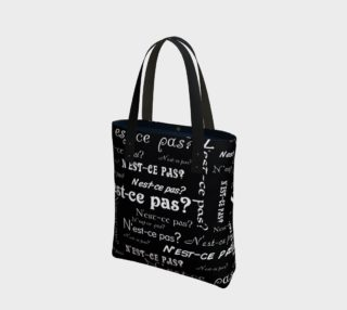 White N'est-ce Pas Tote Bag preview