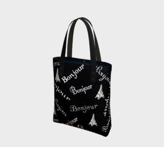 White Bonjour Tote Bag preview