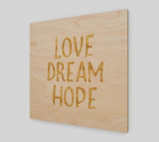 Love Dream Hope Gold Glam Inspirational Quote preview