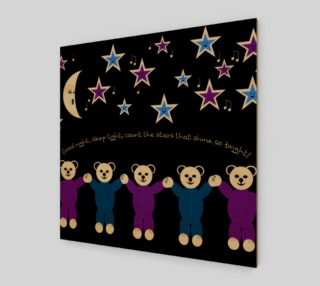 Purple and Blue Sleepy Bears Wall Art poster preview