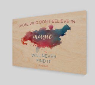Roald Dahl 'believe in magic' quote - wall art preview