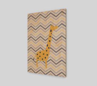 Giraffe and chevron - wall art preview