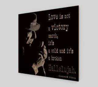 Leonard Cohen print, Hallelujah print preview