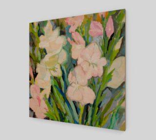 Aperçu de Gladiolus. Sword Lily. Watercolor Flowers. Bouquet.