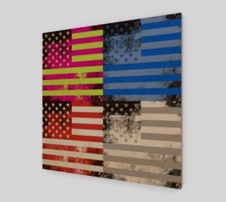 American Flag Pop Art preview