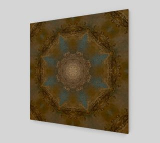 Gold & Turquoise Elegant Medallion Art Print preview
