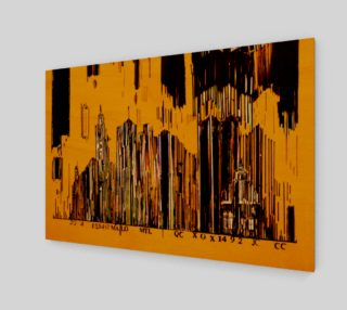 Aperçu de toile Code barre 3 x 2 Jaune Monteal la tour Melannie Bernard