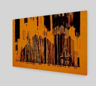 Aperçu de toile 3 x 2 numero 3 Code barre en jaune