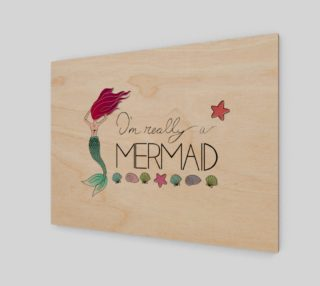 I'm Really a Mermaid Canvas Print - 4:3 preview