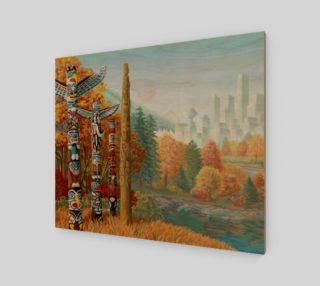 Aperçu de Vancouver Totem Landscape Cityscape Painting Printed on Canvas