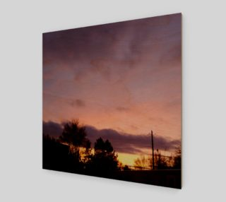 February Sunset in the Trailers Wall Art canvas preview