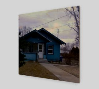 Little Blue House in GC ID Wall Art canvas preview