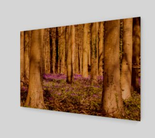 purple forest floor wall art preview