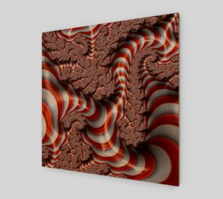 Candy Cane Fractal Wall Art Art Print preview