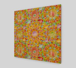Candy Rainbow Mandala Wood Print preview