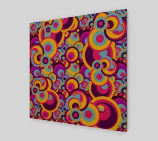 Aperçu de Retro Circles Groovy Colors
