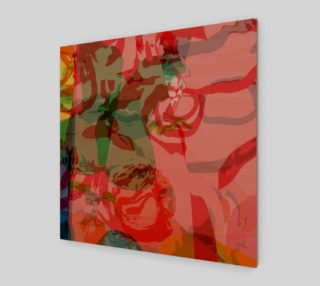 Abstract Pink & Green Floral by HOLLIDAY preview