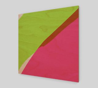 Pink & Green Abstract by HOLLIDAY preview