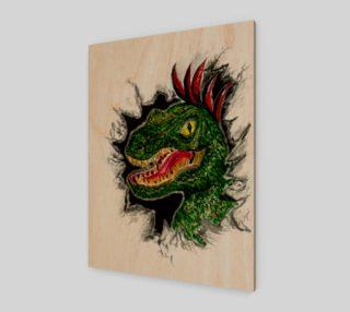Grunge Velociraptor Portrait preview