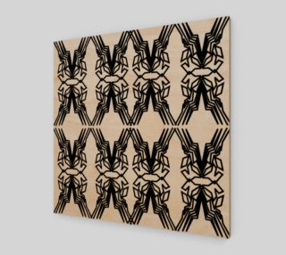 Design ornaments Luxury black on wood preview