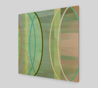 Coaxial Soft Greens Art by Delores Naskrent preview