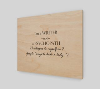 Writer Not Psycho Print preview