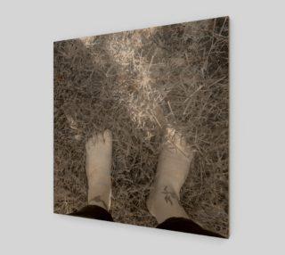 Feet Self Portrait in BW Wall Art preview