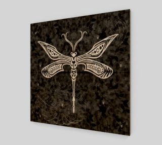 Tribal Dragonfly Goth Art Print preview