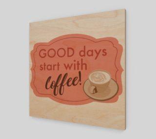 Coffee Days Art Print preview