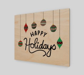 """Happy Holidays 24""""x20"""" Print preview"""