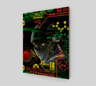 Futuristic Sci-Fi Techno Robot Wall Art preview
