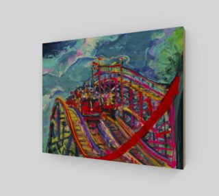 Roller Coaster Circus Fashion-Match Wall Print preview
