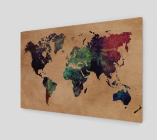 World Map 1 art print preview